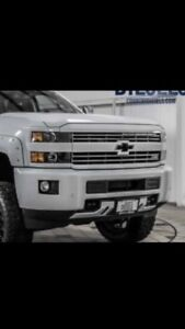 2015-2018 Chevy 2500/3500 white  out package