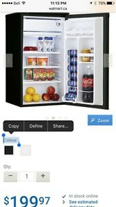 Black Danby Mini Fridge