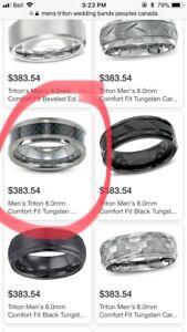 Men's brand new Tungsten wedding band size 8