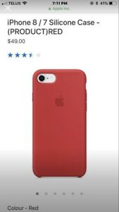 Red Silicone Apple iPhone case