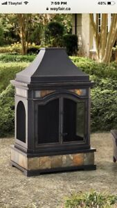 Brand New Outdoor Fireplace