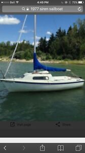 1977 Siren 17' sailboat
