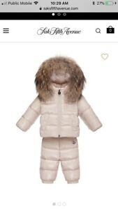 Moncler Baby down Jacket Snowsuit Set