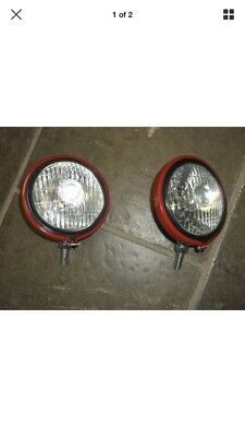 Ih Farmall Front Lights 375855r91 12v A B C Cub H M Supers 300 400 450 Mta