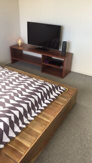 Queen bed timber bed frame