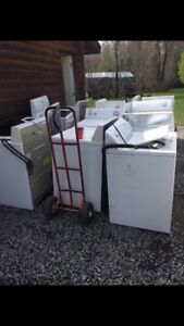 Free pickup of your broken or unwanted washer or dryer.