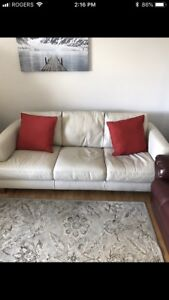 Nattuzzie genuine leather love seat and couch