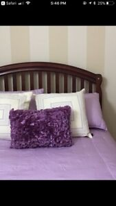Double bedroom set convertible to crib and change table