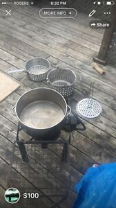 Propain deep fryer and stainless set