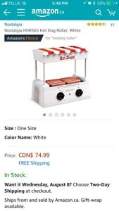 *NEW* Nostalgia Hot Dog Roller with bun warmer