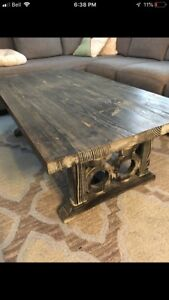 Distressed Solid Wood Coffee Table