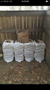 4 Huge 120LB Bags Birch Firewood+Kindle+Free Delivery $160