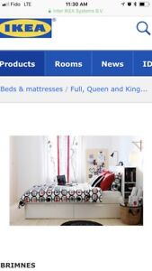 White King size IKEA Bed