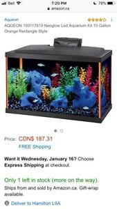 Neoglow LED Aquarium AQUEON Fish Tank 10 Gallon