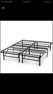 Bed frame and mattress - TWIN (mattress cover included)