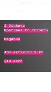 Ticket Montreal - Toronto