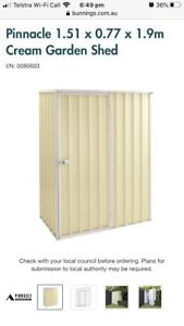 Pinnacle 1.51 x 0.77 x 1.9m Cream Garden Shed