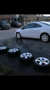 205 55 16 Toyo winter tires on Honda Civic Alloy rims 5 x 114.3