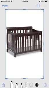 Convertible Crib/Double Bed with Dresser