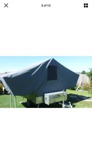 Refurbished bushwhacked 70s camper trailer-