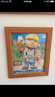 Bob builder picture frame in excellent condition $15