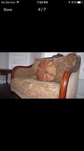 Sofa set and three tables for sale