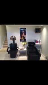 Hair Salon dryer and chair