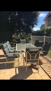 Outdoor table and chair set North Strathfield Canada Bay Area Preview
