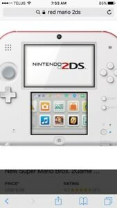 Used twice 2ds with Mario and Pokémon ruby