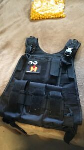 Paintball vest with Molle pouches.