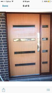 Brand new solid timber front door