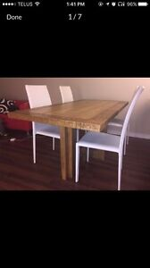 """Norway"" solid wood table by Structube, 4 seater"