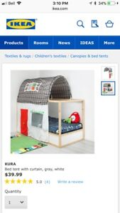 IKEA bunkbed tent like new