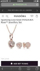 Pandora necklace and earrings set for 50% off