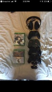 Selling xbox one 4 controllers adaptors and games