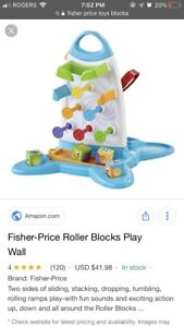 Fisher price blocks and play