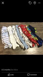 0-3 month baby clothes and extras
