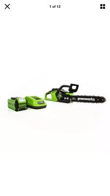 Greenworks 2012802 40V 14-Inch Cordless Chainsaw w/ Battery & Charger Included
