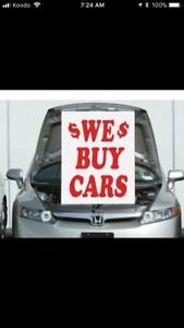 TOP CASH! ALL UNWANTED USED SCRAP CARS!!