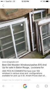 Wanted old wooden windows