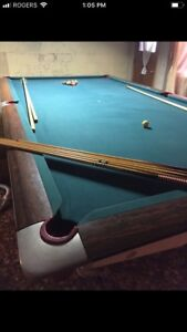 Slate Pool/Snooker Table. 6ft by 12 ft