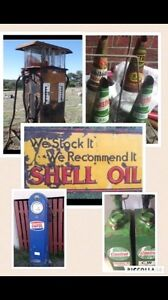 Cash paid for petrol bowsers. Signs. Pumps. Oil bottles Heatherbrae Port Stephens Area Preview