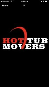 Hot tub removal/relocation services