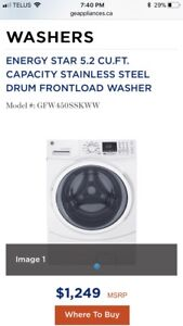 Brand New GE Washer and Dryer