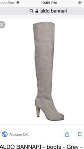 Also knee high boots