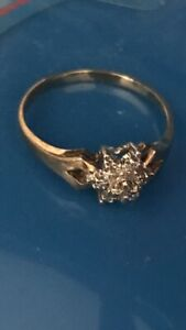 0.028 cts of Diamond ring 10k gold