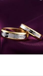 Matching Couples Rings/Bands•*•*•BOTH FOR $90