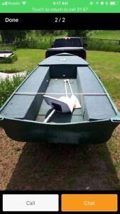 14 ft boat with 9.8 mercery