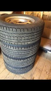 Four used winter tires LT 265/70/17