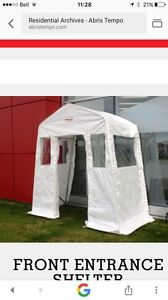 'Tempo' entrance or patio door winter shelter.